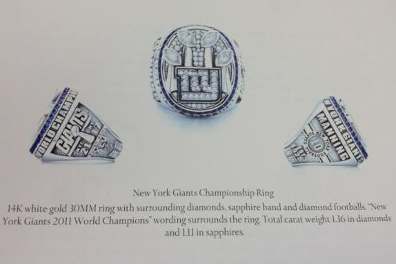 New York Giants Get Super Bowl Rings Tonight: How They Supposedly Look