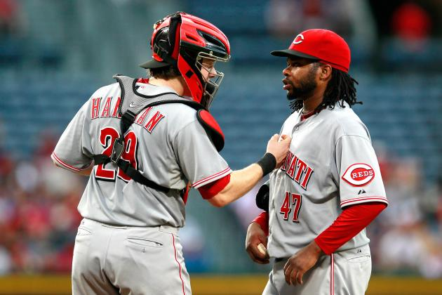 Johnny Cueto Allows the Atlanta Braves to Rip Off His Cape