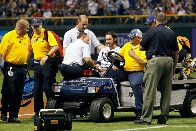 Will Rhymes: Tampa Bay Rays Player Passes out on Field After Being Hit by Pitch