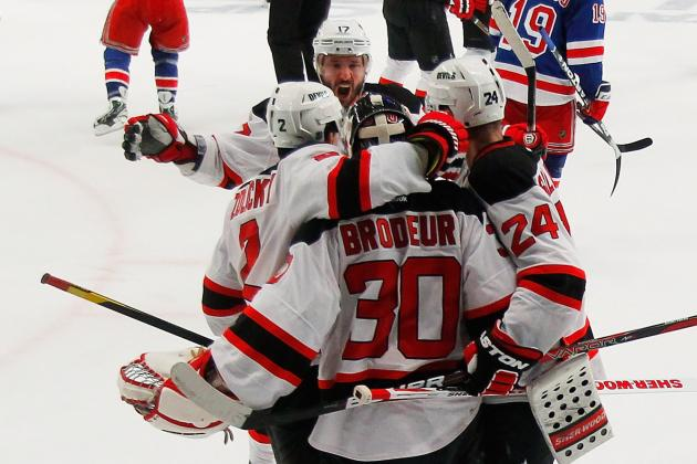 NHL Playoffs 2012: The New Jersey Devils Bounce Back with a 3-2 Win over NYR
