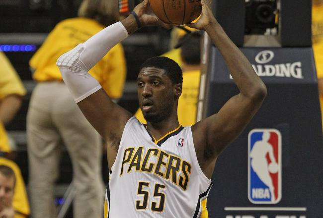 Roy Hibbert had six points, three boards and two blocks in the first quarter.