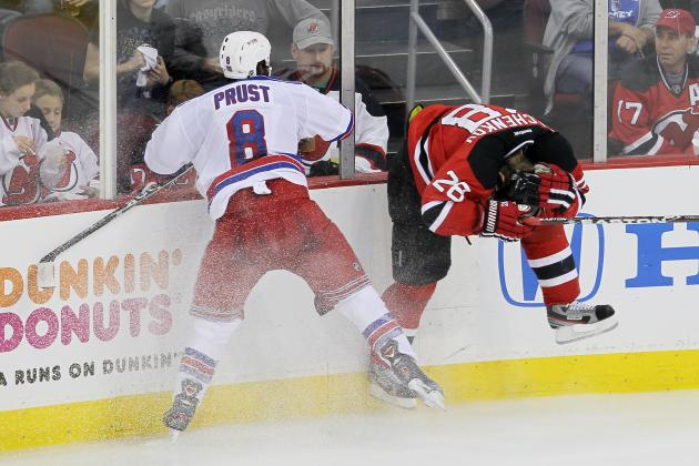 NHL Playoffs 2012: Brandon Prust Suspended 1 Game for Hit on Anton Volchenkov