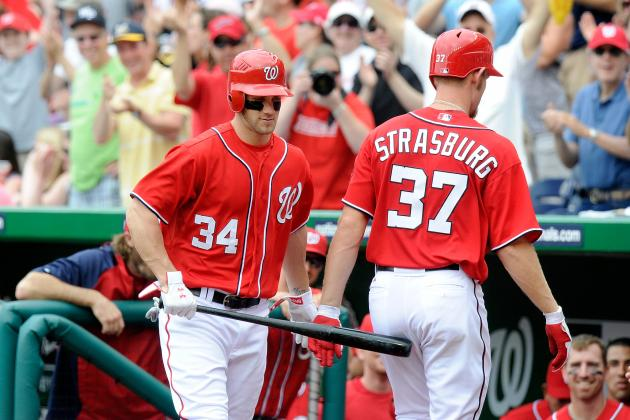 Projecting Bryce Harper and Stephen Strasburg's Stats for the Rest of 2012