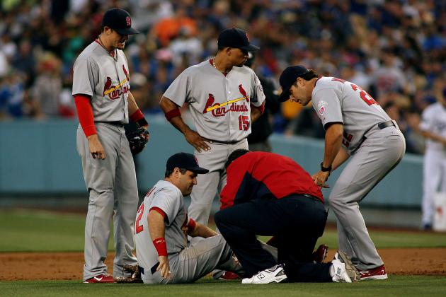 Lance Berkman: Are Cards' Repeat Chances Dashed with 1st Baseman's ACL Injury?