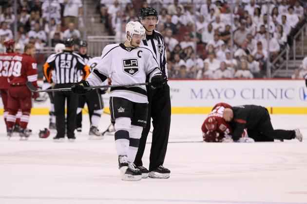 NHL Playoffs 2012: Will Dustin Brown Be Suspended for His Hit on Rozsival?