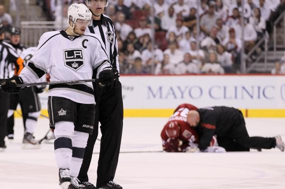 2012 NHL Playoffs: Was Dustin Brown's Hit on Michal Rozsival Dirty?
