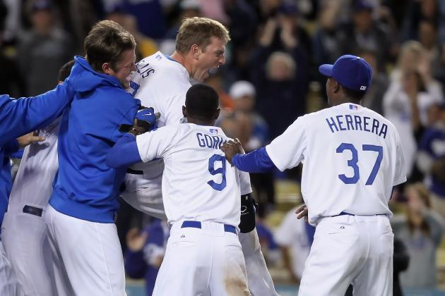 L.A. Dodgers Win on A.J. Ellis' Walk-off Home Run, Improve to MLB-Best 31-15