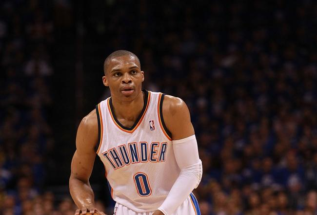 Russell Westbrook has two points, two rebounds and a blocked shot.