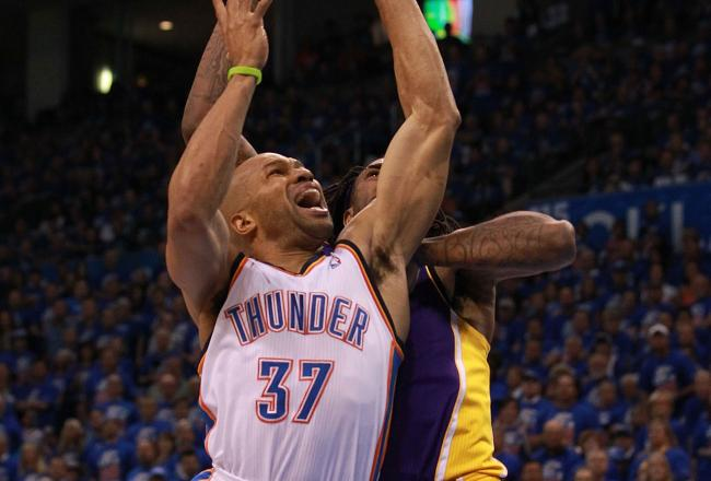 Derek Fisher provides important veteran leadership for the Thunder.