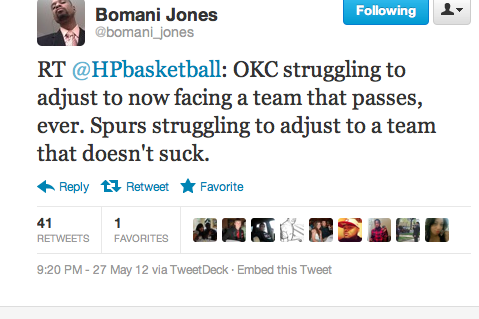 Perhaps Bomani Jones and HP Basketball sum up this match-up best?