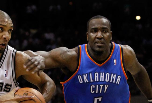 Kendrick Perkins has struggled mightily tonight with fouls and poor offensive production.