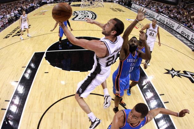 Ginobili Dazzles in Spurs' Game 1 Victory over Thunder
