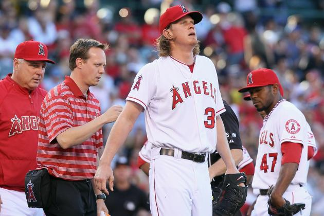 LA Angels' Jered Weaver Exits Game vs. Yankees with Reported Back Injury