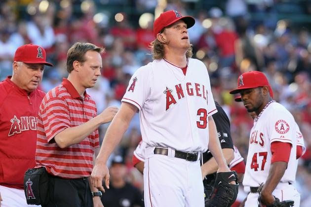 Jered Weaver Injury: Pitcher's Troublesome Back Won't Cool off Red-Hot Angels