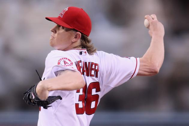 Source: LA Angels of Anaheim to Place Jered Weaver on DL Due to Back Injury?
