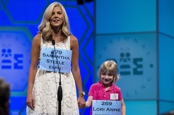 Samantha Steele Is Perfect Replacement for Erin Andrews at Spelling Bee Final