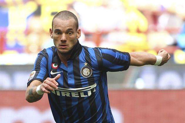 Netherlands Star Wesley Sneijder Linked with Move to EPL Champions Man City