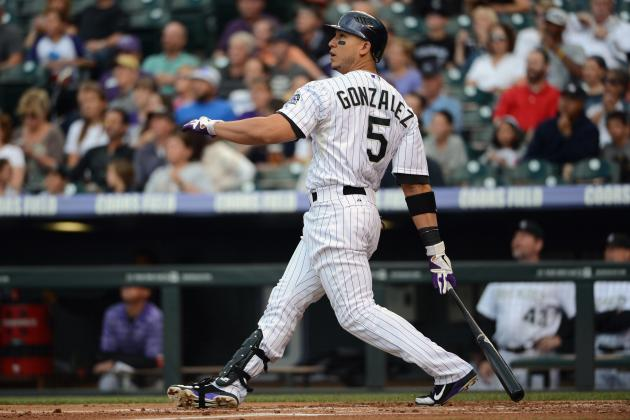 NL Best of the Night: Rockies' Carlos Gonzalez Homers for 4th Straight at-Bat