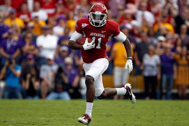 College Football 2012 Top 150 Players: No. 108, Cobi Hamilton, Arkansas WR