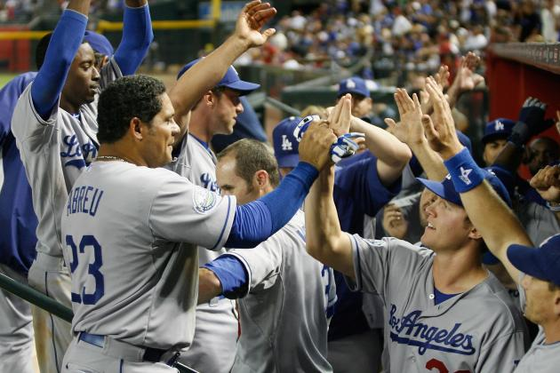 Abreu Hits 1st HR as Dodgers Snap 5-Game Skid