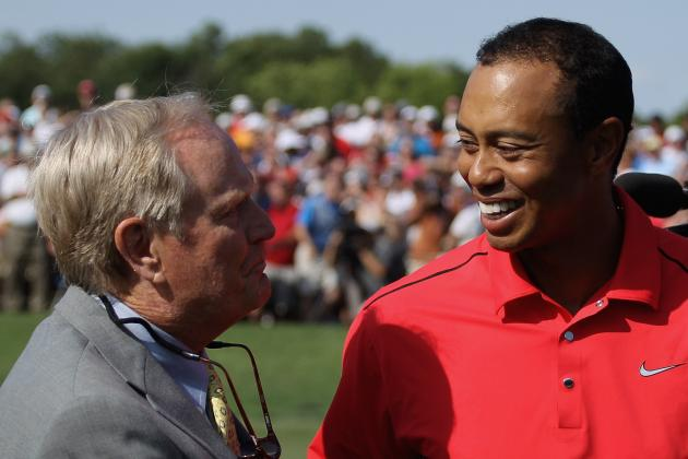 Tiger Woods Ties Jack Nicklaus' Wins Mark, but Will He Snatch Majors Record?