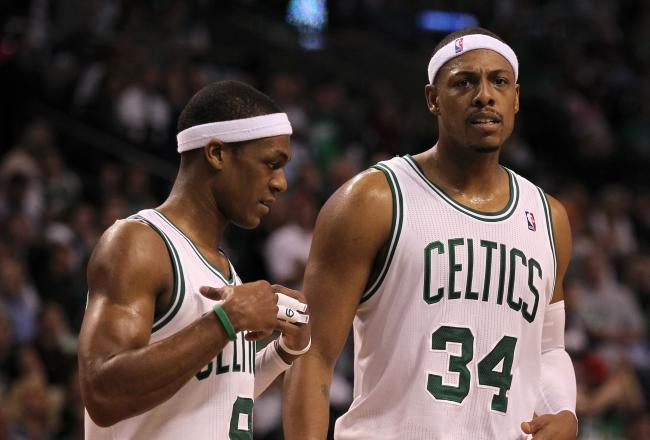 With Paul Pierce fouled out, Rajon Rondo hit 1 of 2 free throws to give Boston a two point lead.