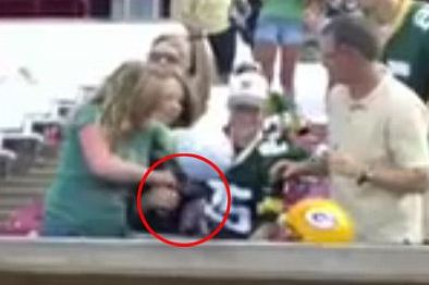 Donald Driver Fanatic Rips Cleat from Innocent Little Packers Fan