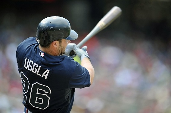 NL Best of the Night: Dan Uggla Goes Deep Twice in Braves' 11-0 Rout of Marlins