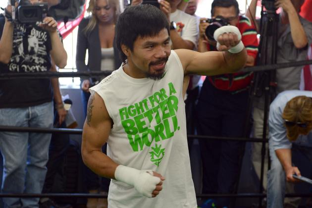 Manny Pacquiao: Will He Mention Floyd Mayweather Jr. Saturday Night?