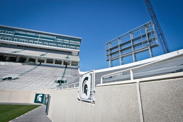 A Look at the Spartan Stadium Video Scoreboards Under Construction
