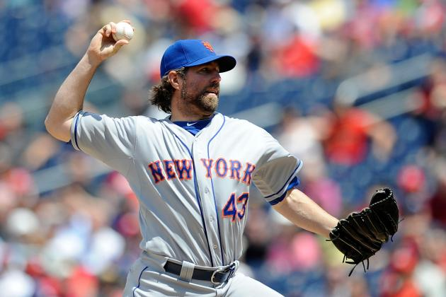 New York Mets' R.A. Dickey Is 1st to 9 Wins After Blanking Washington Nationals