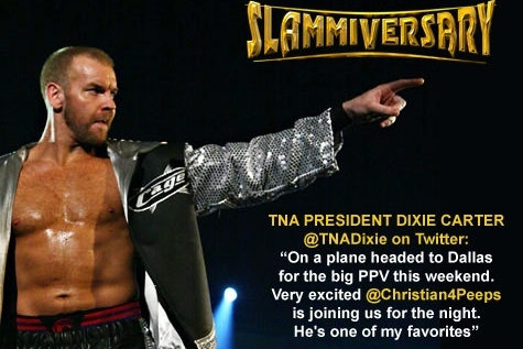 WWE/TNA Update: Christian All but Confirmed for Slammiversary