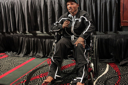 Bradley Shows Up to Press Conference in Wheelchair, Suffered Fractured Left Foot