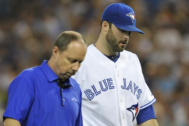 Jays' Morrow Exits in 1st Inning with Side Strain