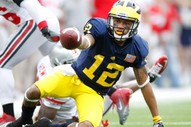 College Football 2012 Top 150 Players: No. 105 Roy Roundtree, Michigan WR