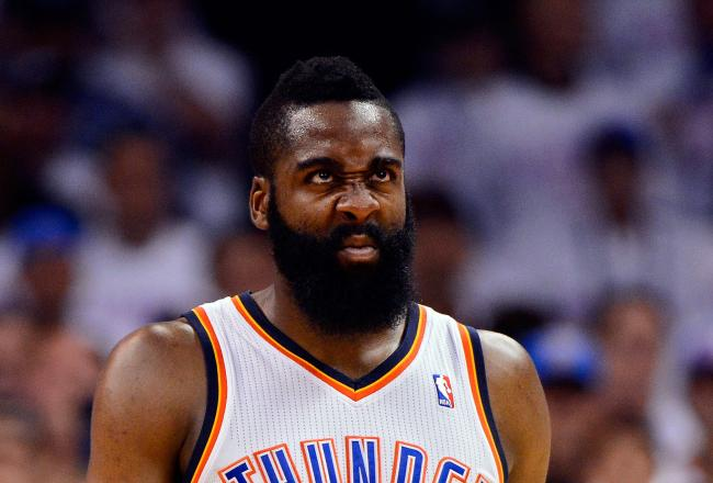 James Harden knows the Thunder's offense stunk in the first quarter.