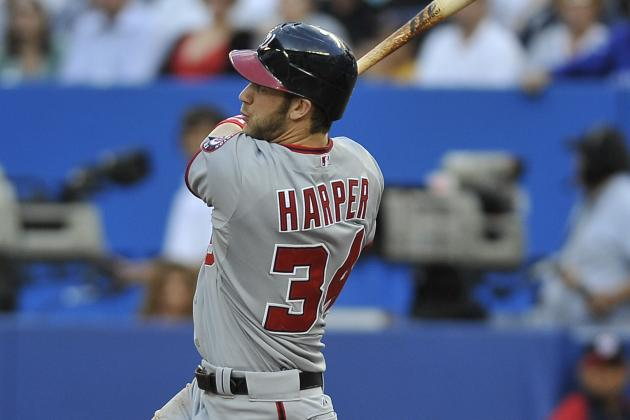 Harper's Titanic Homer Powers Nats Past Jays