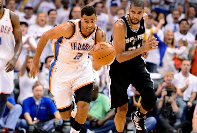 Thabo Sefolosha is one of several Thunder players who have stepped up their defense in the second half.