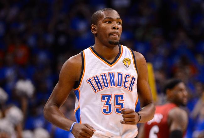 Kevin Durant leads the Thunder with 17 points.