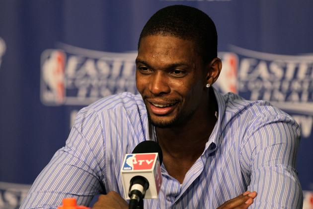 Heat F Chris Bosh: Thunder Crowd Was Just 'Regular' During NBA Finals Game 1