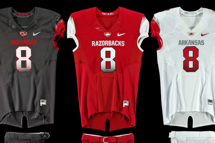 ARKANSAS RAZORBACKS UNVEIL NEW MODERN UNIFORM DESIGN FOR 2012 SEASON