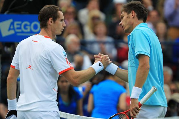Misery for Murray as Defending Champion Slips to Mahut