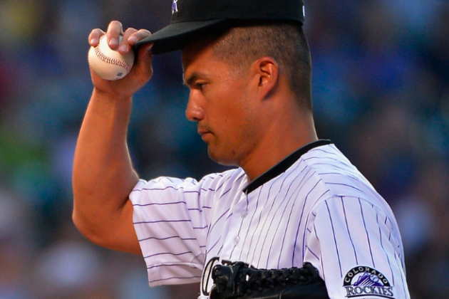 NL Worst of the Night: Rockies' Jeremy Guthrie Gives Up 7 Runs to Punchless A's