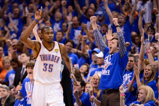 Kevin Durant, Thunder Rolling After Game 1 Victory in 2012 NBA Finals