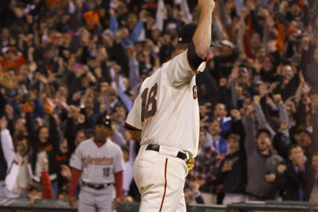 San Francisco Giants Pitcher Matt Cain Throws Perfect Game