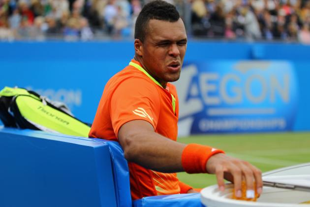 Jo-Wilfried Tsonga Exits Queen's and Now Doubtful for Wimbledon