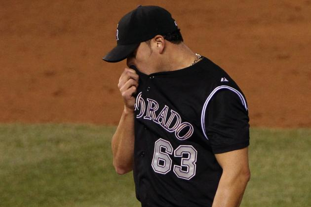 Rafael Betancourt Blows Save in Rockies' Seventh Straight Loss