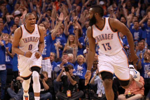 Why OKC Thunder Should Start a James Harden-Russell Westbrook Backcourt