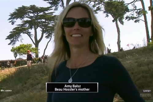 Beau Hossler's Mom, Amy Balsz, Steals the Show at US Open