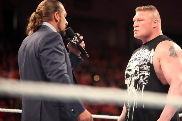 WWE News: Backstage Plans for Brock Lesnar-Triple H Feud, Match at SummerSlam